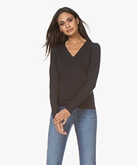 Wolford Aurora Cradle-to-Cradle V-neck Long Sleeve - Admiral