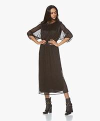 by-bar Marte Pleated Lurex Midi Dress - Black