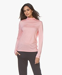 Filippa K Tencel Polo Neck Top - Taffy Pink