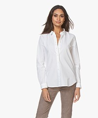 Closed Devin Katoenen Poplin Blouse - Wit