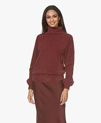 Plein Publique Le Doux Soft Turtleneck Sweater - Burgundy
