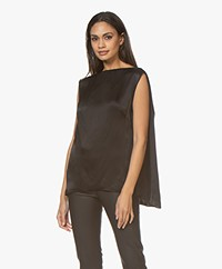By Malene Birger Sleeveless Satin Top - Black