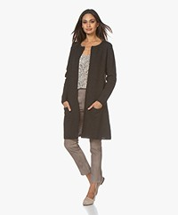 Sibin/Linnebjerg Mary Merino Blend Open Cardigan - Anthracite