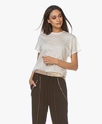 IRO Tinari Extra-fine Cotton T-shirt - Off-white Melange