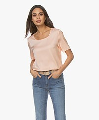 Repeat Silk Short Sleeve Blouse - Skin