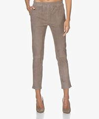 Repeat Luxury Slim-fit Suède Broek - Drizzle