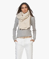 extreme cashmere N°60 Grote Cashmere Sjaal - Latte