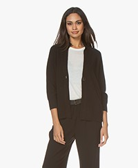 Repeat Pure Cashmere Short Cardigan - Black
