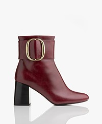 See By Chloé Abby Bowy Leather Ankle Boots - Nisdia