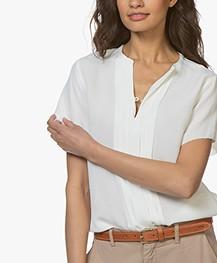 BY-BAR Ava Short Sleeve Blouse - Off-white