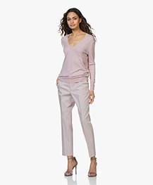 Filippa K Emma Katoenmix Twill Pantalon - Frosty Pink