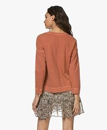 indi & cold Garment Dyed Broderie Sweatshirt - Ambar