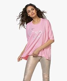 Zadig & Voltaire Portland I Feel Fine Print T-shirt - Rose Yves