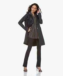 Woman by Earn Newton Stretch-Cotton Blazer Jacket - Navy