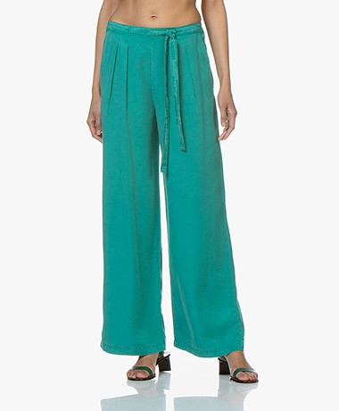 indi & cold Lyocell Wide Leg Pants - Verones