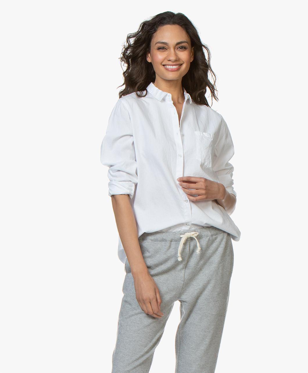 Obrázek American Vintage Blouse White Pizabay Oversized Cotton