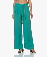 indi & cold Lyocell Wide Leg Pants - Verones