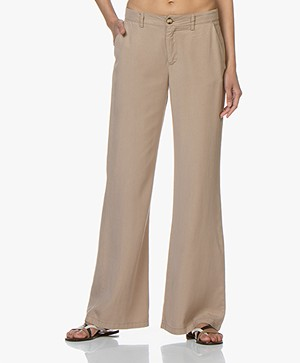 BY-BAR Elin Tencel Wide Leg Pants - Camel