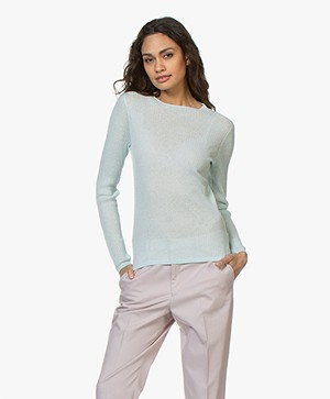 Filippa K Transparent Knit Trui - Crystal