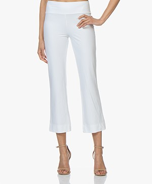 JapanTKY Kayas Travel Jersey Cropped Flared Broek - Wit