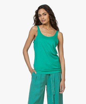 Repeat Lyocell Blend Tank Top - Emerald