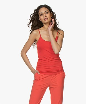 no man's land Viscose Singlet - Rood