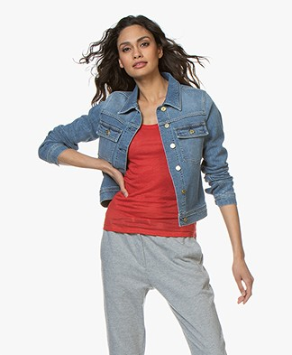 Filippa K Suzy Washed Denim Jacket - Mid Blue