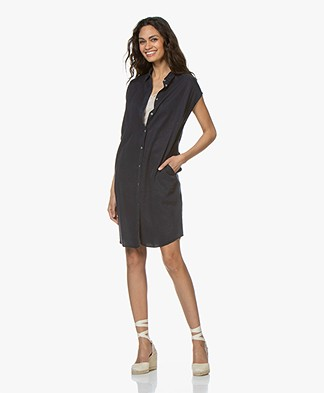 BY-BAR Kiek Lyocell Twill Shirt Dress - Dark Navy