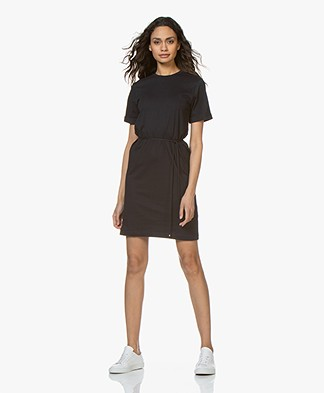 Filippa K Crew Neck T-Shirt Dress - Navy