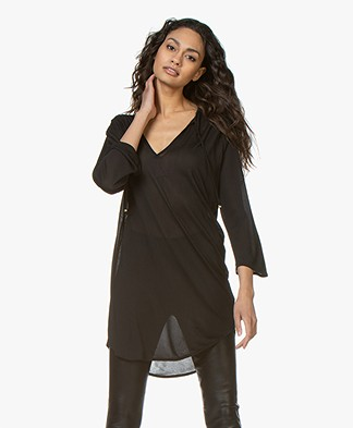 Filippa K Sheer Tunic Blouse - Black