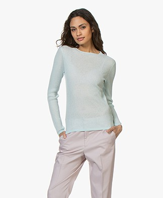 Filippa K Transparent Knit Sweater - Crystal