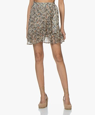 indi & cold Printed Mini Skirt with Ruffles - Almendra