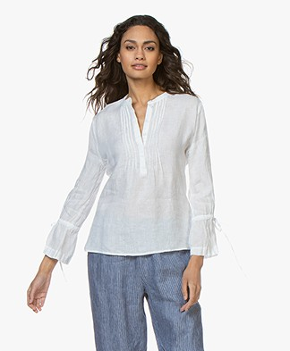 Josephine & Co Carole Linen Blouse - White