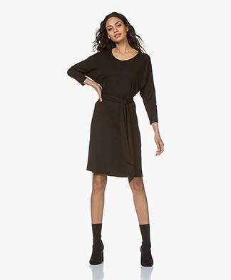 LaSalle Lyocell Jersey Dress - Black
