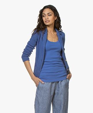 Belluna Dunn Crochet Blazer Cardigan - Blue
