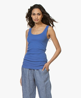 By Malene Birger Ribbed Tank Top Newdawn - Vintage Blue