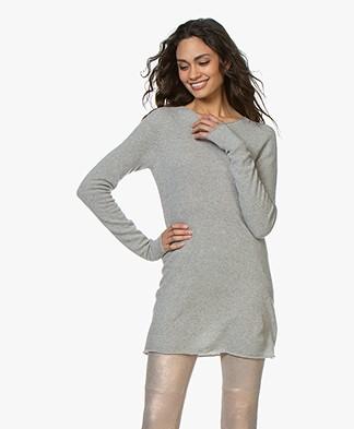 Majestic Filatures Long Cashmere Sweater - Grey Melange