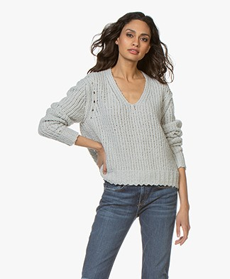 Rag & Bone Arizona Chunky Knitted Sweater - Light Grey