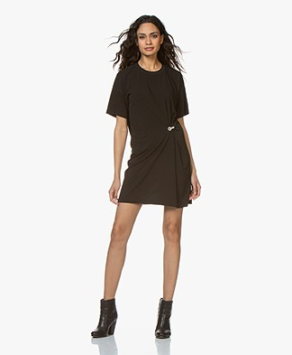 Rag & Bone Mitchell Drape Dress - Black