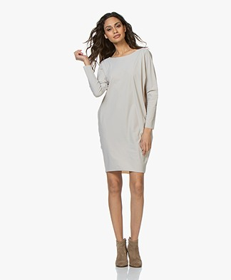 Woman by Earn Agaath Tech Jersey Tunic Dress - Sand