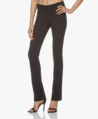 Woman by Earn Nora Flared Tech Jersey Pants - Navy