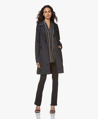 Woman by Earn Newton Stretch-Cotton Blazer Jacket - Navy