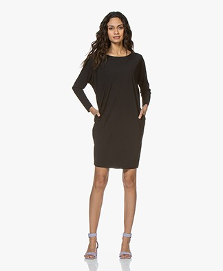 Woman by Earn Agaath Tech Jersey Tunic Dress - Black