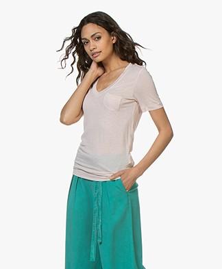 Denham Pilot Slub Jersey V-neck T-shirt - Hushed Violet