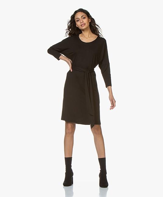 dd1ebaf5954da3 Home  »  dresses  »  straight · LaSalle. Lyocell Jersey Dress Black