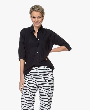 LaDress Annie Travel Jersey Overhemd - Zwart