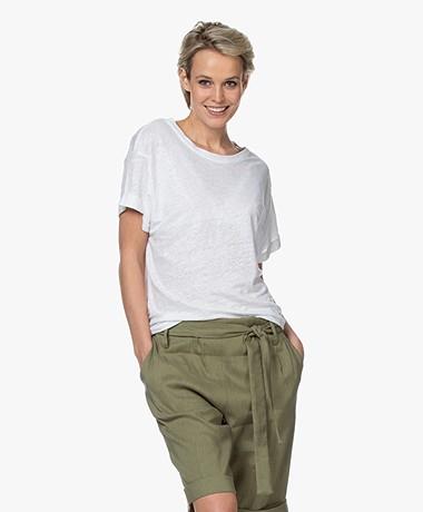 Repeat Linnen Slub Jersey T-shirt - Wit