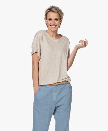 Repeat Linnen Slub Jersey T-shirt - Desert