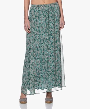 by-bar Pleun Print Chiffon Maxi Skirt - Evergreen