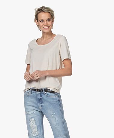 Repeat Jersey Lyocell Mix T-shirt - Desert